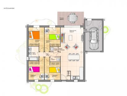 Maison neuve  à  La Roche-sur-Yon (85000)  - 188300 € * : photo 2