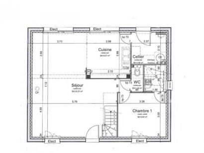 Plan de maison SM_R+1 4 chambres  : Photo 1