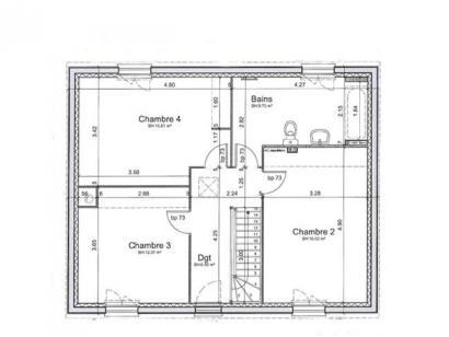 Plan de maison SM_R+1 4 chambres  : Photo 2