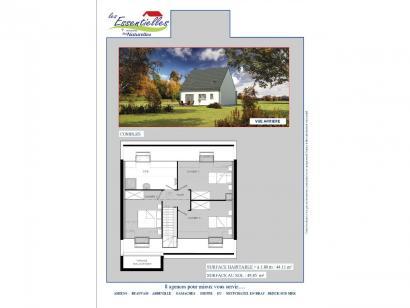 Plan de maison PERSEUS 3 chambres  : Photo 2