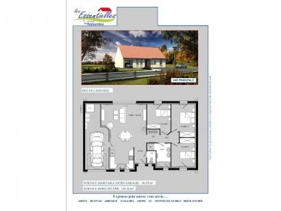 Plan de maison CENTAURE 3 chambres  : Photo 1