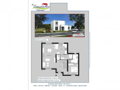 Plan de maison PERSEE 4 chambres  : Photo 1