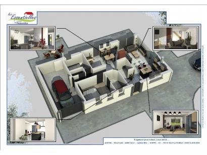 Modèle de maison ANDROMEDE 3 chambres  : Photo 2