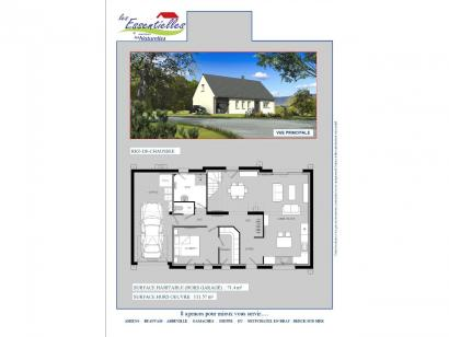 Plan de maison ANDROMEDE 3 chambres  : Photo 1