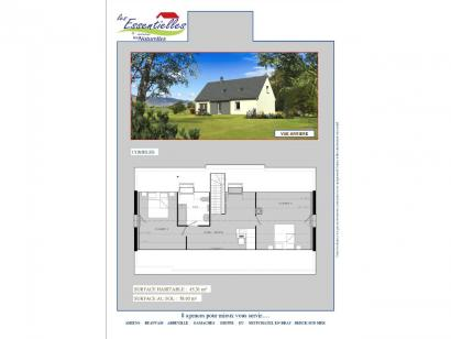 Plan de maison ANDROMEDE 3 chambres  : Photo 2