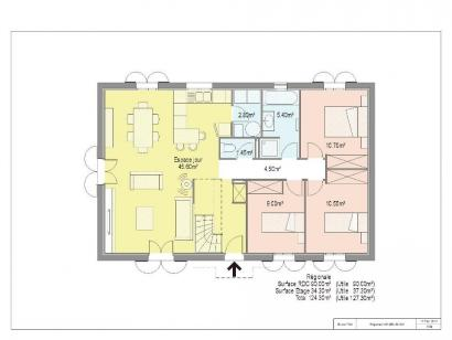 Plan de maison PRESTIGE 2 3 chambres  : Photo 1