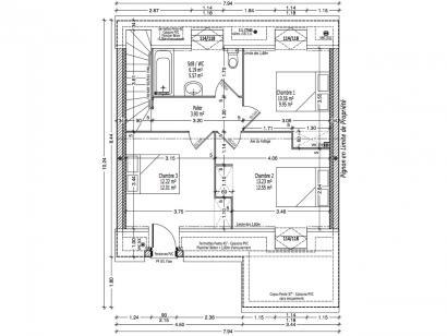 Maison neuve  à  Parçay-Meslay (37210)  - 213000 € * : photo 2