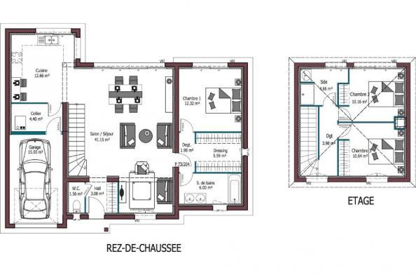 Modèle de maison Design 3 chambres  : Photo 4