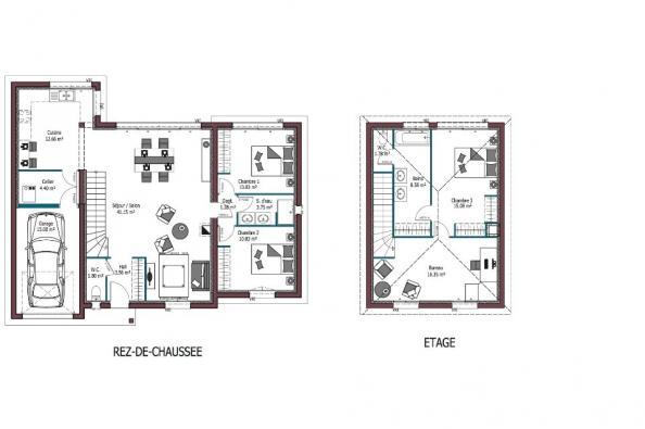 Modèle de maison Design 3 chambres  : Photo 5