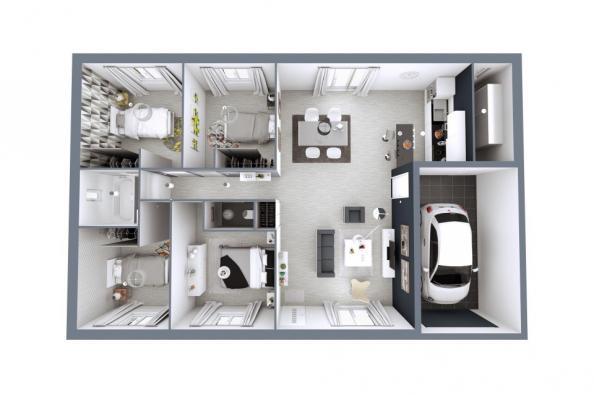 Modèle de maison Littoral T5 4 chambres  : Photo 3