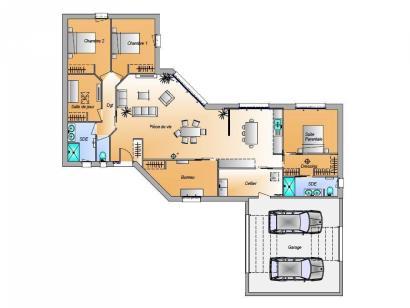 Modèle de maison Avant projet Challans - 5 chambres - 136m² 5 chambres  : Photo 3