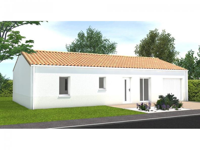 Modèle de maison Avant projet Saint Cyr En Talmondais - 3 chambres : Vignette 1