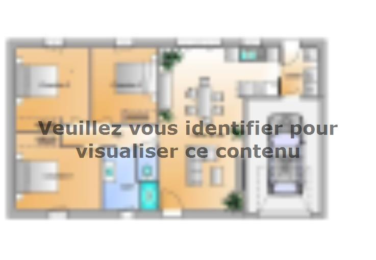 Plan de maison Avant projet Saint Cyr En Talmondais - 3 chambres : Vignette 1