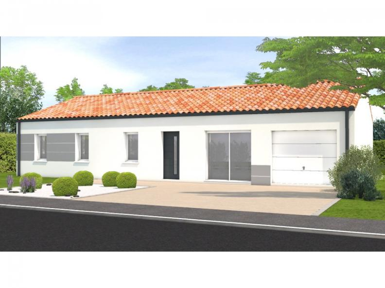 Modèle de maison Avant projet Beauvoir Sur Mer - 4ch + 1 bureau : Vignette 1