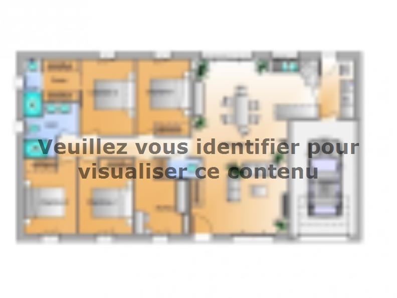 Plan de maison Avant projet Beauvoir Sur Mer - 4ch + 1 bureau : Vignette 1
