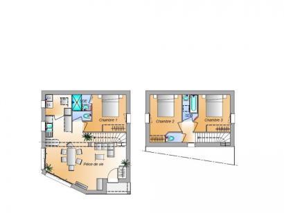 Plan de maison Avant projet Grues 3 chambres 3 chambres  : Photo 1