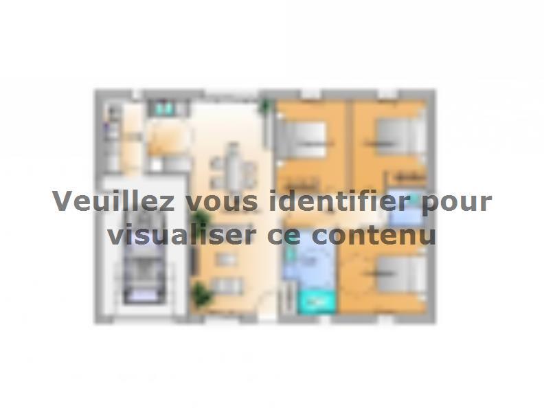 Plan de maison Avant projet Châteauneuf - 3 chambres : Vignette 1