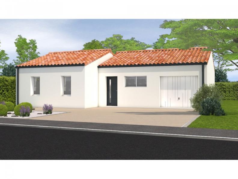 Modèle de maison Avant projet Aubigny Les Clouzeaux 2 chambres + 1 : Vignette 1