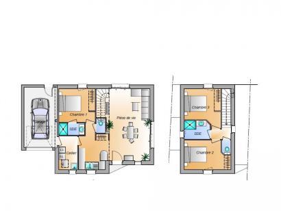 Plan de maison Avant projet Brem Sur Mer - 3 chambres 3 chambres  : Photo 1