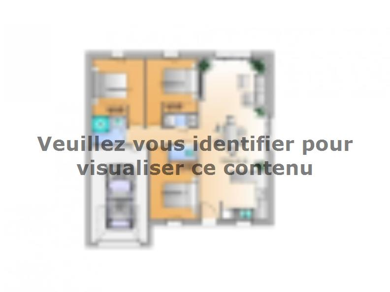 Plan de maison Avant projet La Rabateliére - 3 chambres : Vignette 1