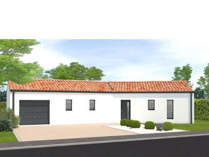 Modèle de maison Avant projet Saint Sulpice Le Verdon - 73m² - 2 ch 2 chambres  : Photo 1