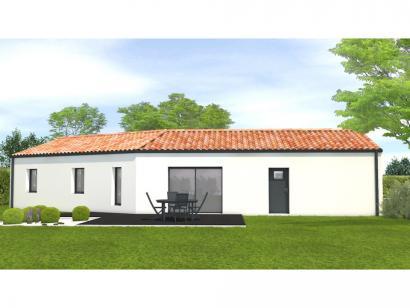 Modèle de maison Avant projet Saint Sulpice Le Verdon - 73m² - 2 ch 2 chambres  : Photo 2
