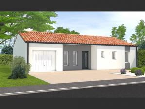 Avant projet Landevieille 80m² 2 chambres