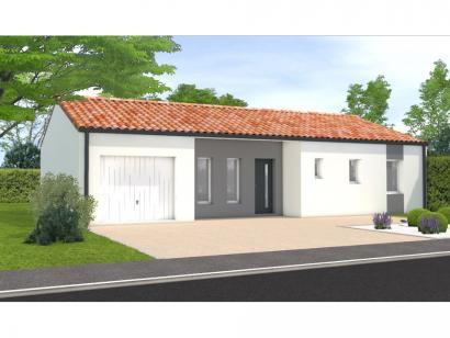 Modèle de maison Avant projet Landevieille 80m² 2 chambres 2 chambres  : Photo 1