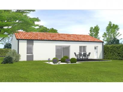 Modèle de maison Avant projet Landevieille 80m² 2 chambres 2 chambres  : Photo 2