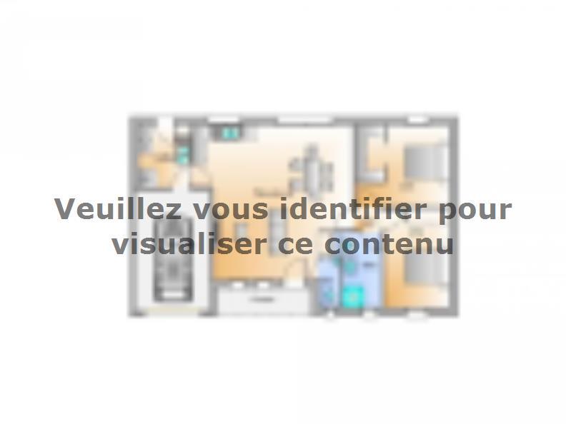 Plan de maison Avant projet Landevieille 80m² 2 chambres : Vignette 1