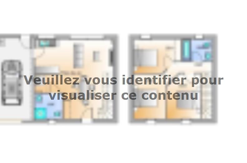 Plan de maison Avant projet Palluau - 79m² -3 chambres : Vignette 1