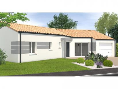 Modèle de maison Avant projet Landevieille - 4 chambres - 105m² 4 chambres  : Photo 1