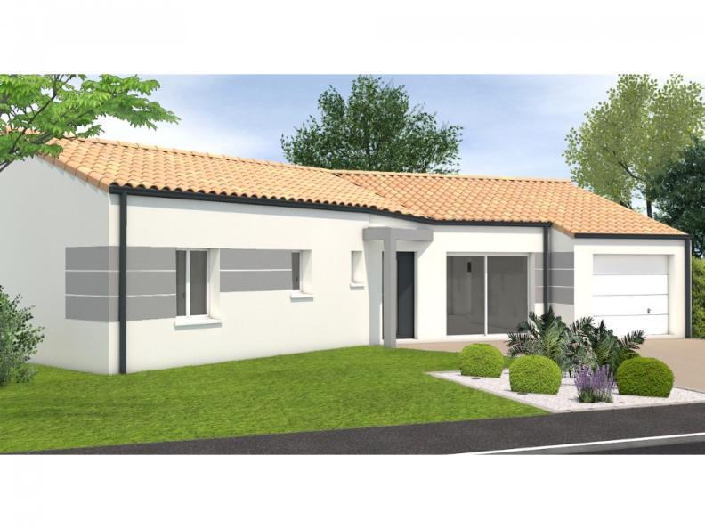 Modèle de maison Avant projet Landevieille - 4 chambres - 105m² : Vignette 1