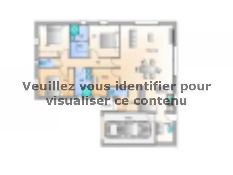 Plan de maison Avant projet La Jnchère - 3 chambres + 1 bureau - : Vignette 1