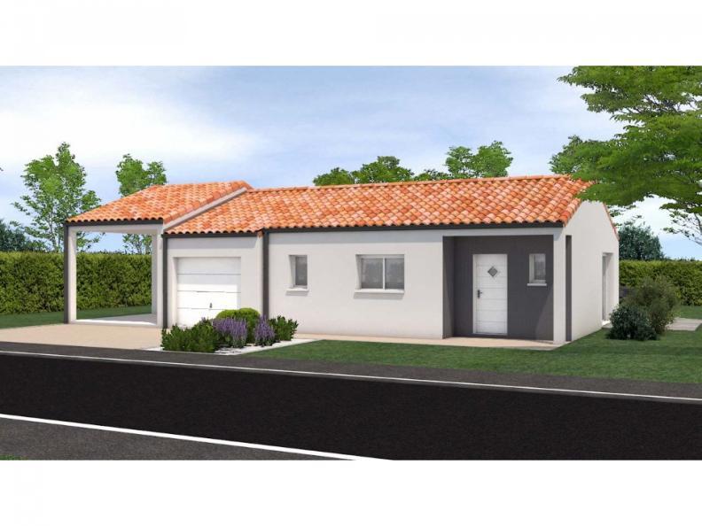 Modèle de maison Avant projet Saint Fulgent - 3 chambres - 114m² : Vignette 1