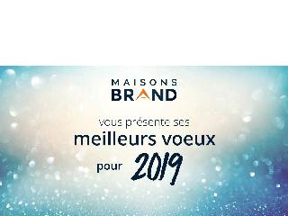 MAISONS BRAND VOUS SOUHAITE UNE BONNE ANNEE 2019