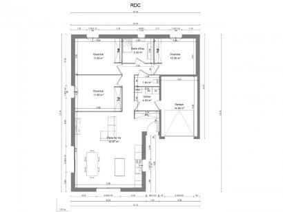 Maison neuve  à  Saint-Martin-le-Beau (37270)  - 196500 € * : photo 1
