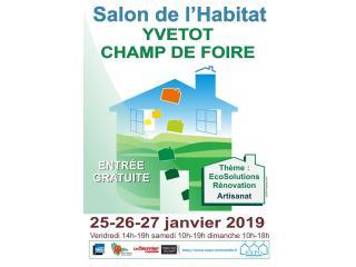 Salon de l'Habitat d'YVETOT (76) du 25 au 27 janvier 2019
