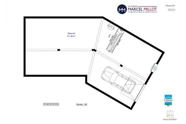 Modèle de maison ELLA 6 - 22° - dpts 87/46/24 - maison sur sous-sol 3 chambres  : Photo 4