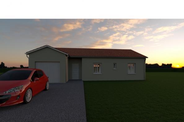 Modèle de maison VARIATION - 22° - dpts 87/46/24 - maison de plain 3 chambres  : Photo 2