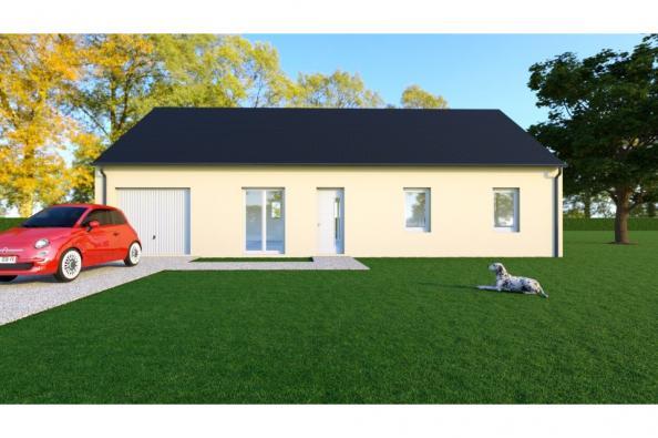 Modèle de maison WENGUE - 35° - dpts 19/23 - maison de plain pied - 3 chambres  : Photo 1