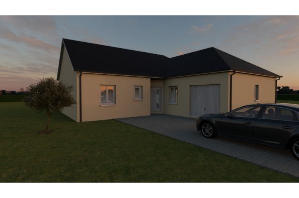 Modèle de maison LANDA 6 AG - 35° - dpts 19/23 - maison de plain pi 3 chambres  : Photo 2