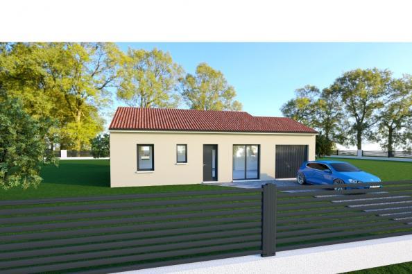 Modèle de maison PRIMA 4 AG - 22° - dpts 87/46/24 - maison de plain 2 chambres  : Photo 1