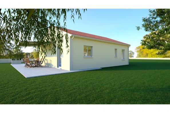 Modèle de maison PRIMA 5 SG - 22° - 87/46/24 - maison de plain pied 3 chambres  : Photo 2