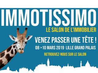 Salon Immotissimo à Lille (59) du 08 au 10 mars 2019