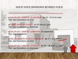 Dates de salons de l'habitat et foires expo 2019