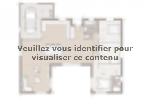 Plan de maison Patio 140 Tradition 3 chambres  : Photo 1