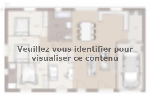 Plan de maison Optima 103GA Tradition 4 chambres  : Photo 1