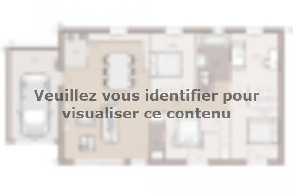 Plan de maison Optima 100GA Design 4 chambres  : Photo 1