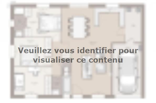 Plan de maison Optima 84GA Tradition 3 chambres  : Photo 1